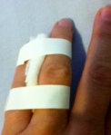 Fingers Buddy Taped
